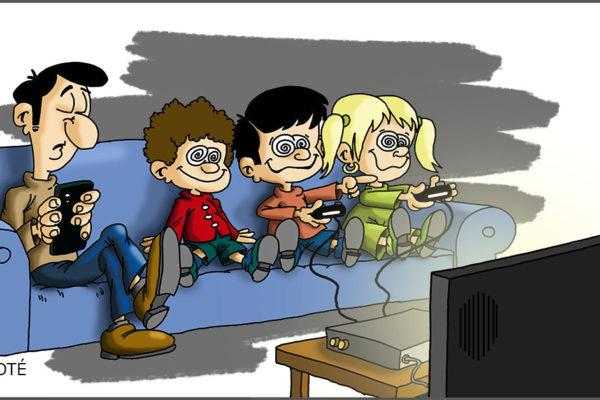videos, videojuegos y comics
