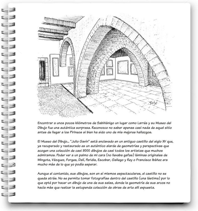 Mi cuaderno de viaje: castillo museo de dibujo de Larrés