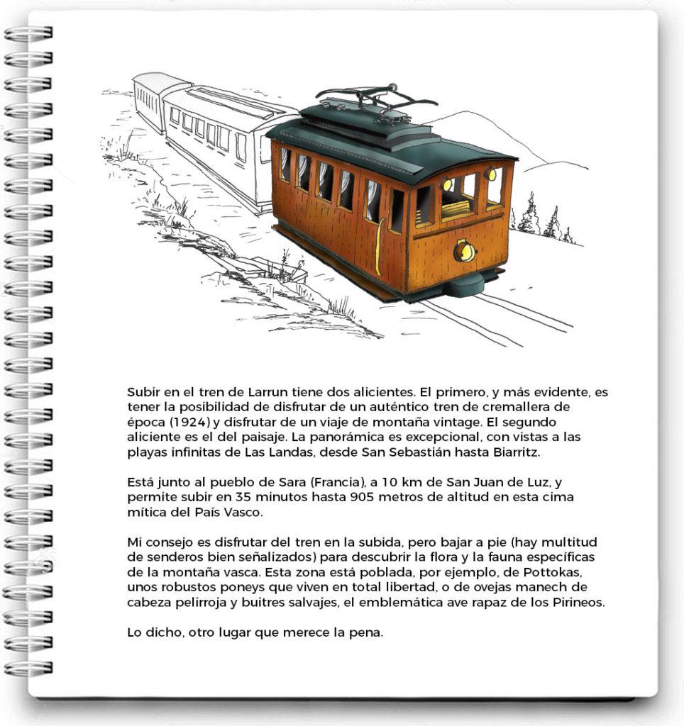 Mi cuaderno de viaje: Tren de Larrún